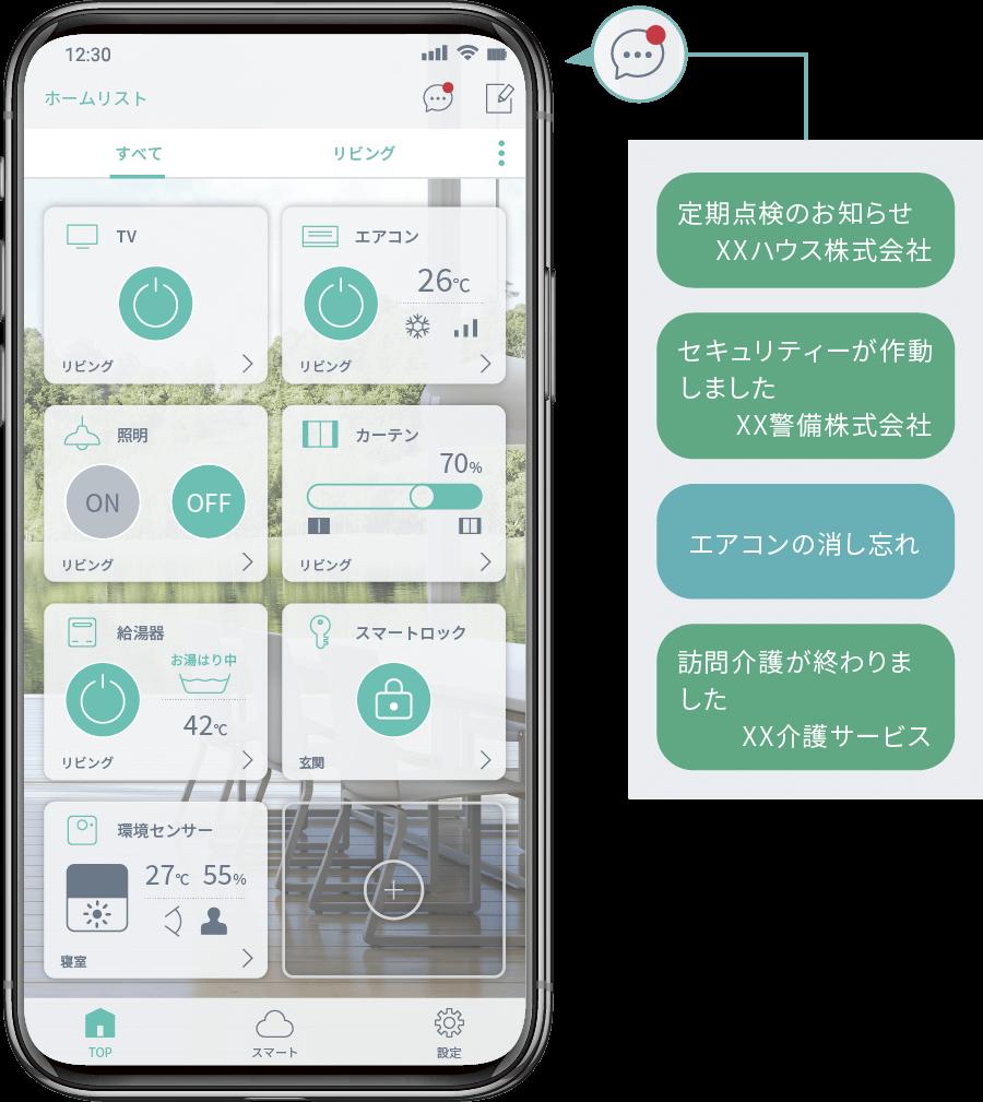 スマートホーム統合アプリHomeLink
